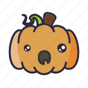 halloween, lantern, pumpkin, surprised icon