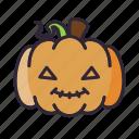 halloween, lantern, pumpkin, smile, terror icon