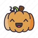 glad, halloween, laugh, pumpkin icon