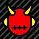 costume, demon, devil, halloween, hell icon