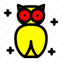 bird, costume, ghost, halloween, owl icon