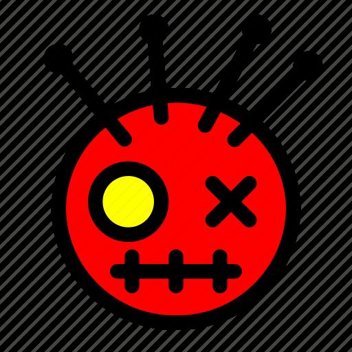 costume, doll, halloween, puncture, voodoo icon