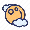 cloud, halloween, horror, moon, night icon