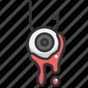 eyeball, fright, halloween, horror, scary, spooky, terror icon