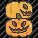 fear, halloween, horror, pumpkin, scary, spooky, terror icon