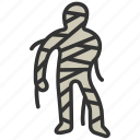 fear, halloween, horror, mummy, scary, spooky, terror icon