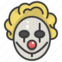 clown, fear, halloween, horror, scary, spooky, terror icon