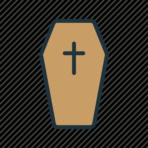 cemetery, coffin, dead, death, funeral, grave, halloween icon