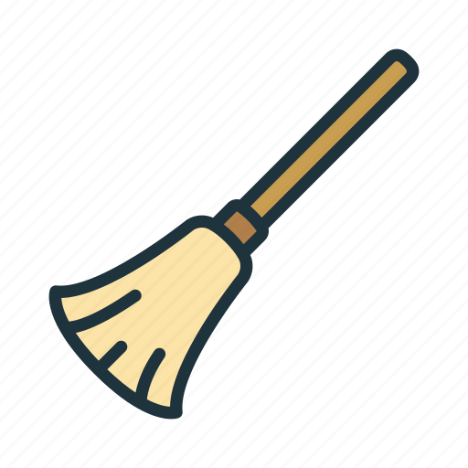 broom, broomstick, clean, cleaning, halloween, sweep, witch icon