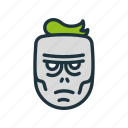 apocalypse, dead, face, halloween, head, nightmare, zombie icon