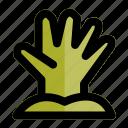 apocalypse, deadman, evil, halloween, hand, rise, zombie icon
