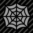 spider, terror, scary, spooky, spiderweb icon