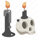 halloween, skull, death, horror, terror, candle, spooky