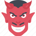 devil, evil, halloween, red person, satan icon