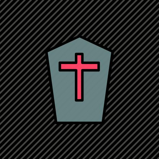 coffin, creepy, death, graveyard, halloween, scary, tomb icon