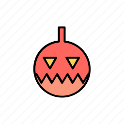 avatar, halloween, horror, orange, pumpkin, scary, spooky icon