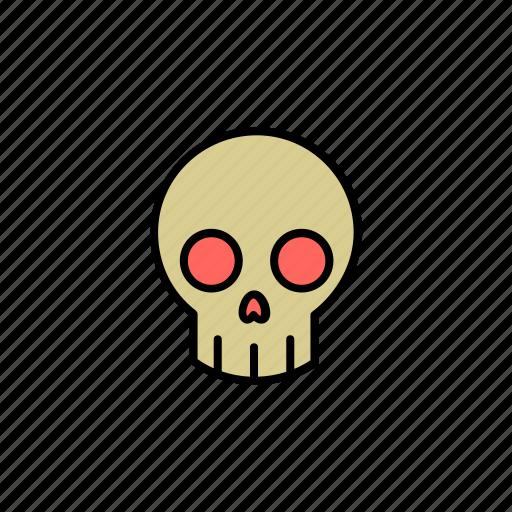 dead, evil, grave, halloween, monster, scary, skull icon
