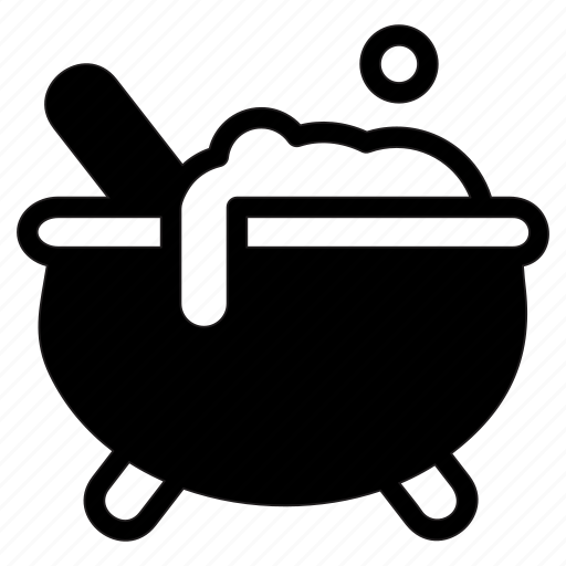 cauldron, experiment, halloween, magic, potion icon