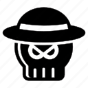 halloween, hat, mafia, phantom, skull icon