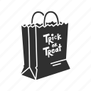 halloween, halloween bag, holidays, horror, paper bag, spooky, trick or treat icon