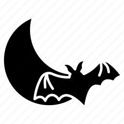 bat, halloween, halloween night, monster, moon, night, scary icon