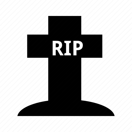 christian, cross, death, grave, graveyard, rip, tombstone icon
