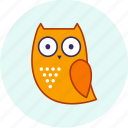 carnival, event, festive, halloween, owl, party icon