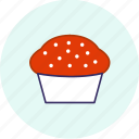 carnival, cupcake, event, festive, halloween, party icon