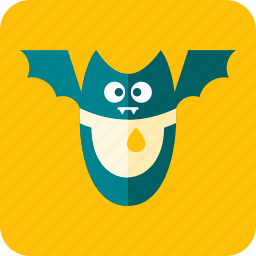 bat, celebration, fangs, flight, halloween, scary, wings icon