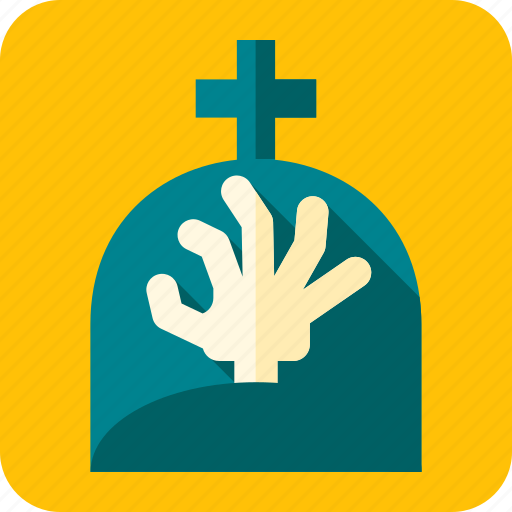 celebration, grave, halloween, hand, raise, scary, zombie icon