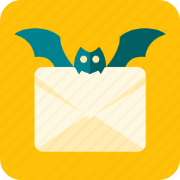 bat, celebration, halloween, leter, mail, news, scary icon