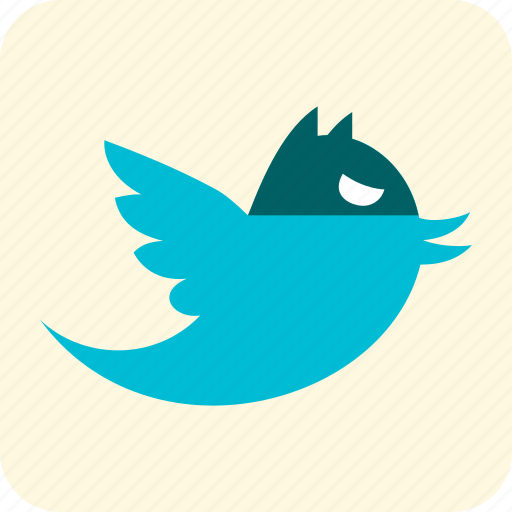 bird, blue, celebration, halloween, messaging, scary icon