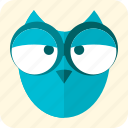 bird, celebration, feathers, halloween, night, owl, scary icon