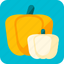 autumn, celebration, halloween, pumpkins, scary, vegetable, yelow icon