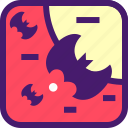 bat, bird, ghost, halloween, october, spooky icon