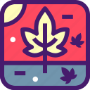 autumn, halloween, leaf, maple, october, trees icon