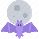 bat, fairy tale, fantasy, halloween, legend, moon, myth icon