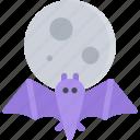 bat, fairy tale, fantasy, halloween, legend, moon, myth icon