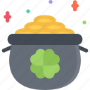 fairy tale, fantasy, halloween, legend, leprechaun, myth, pot icon