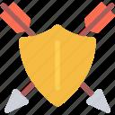 arrow, fairy tale, fantasy, halloween, legend, myth, shield icon