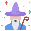 fairy tale, fantasy, halloween, legend, myth, wizard icon