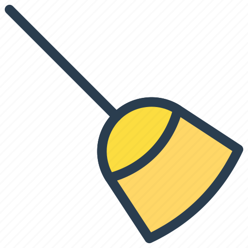 broom, brush, mop, witch icon