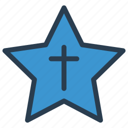 award, cross, medal, star icon