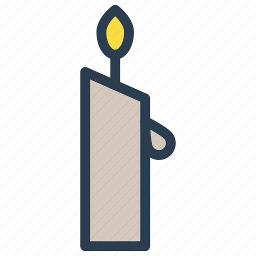candle, light, memorial, torch icon