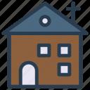 building, catholic, church, estate