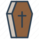 casket, cemetery, coffin, death icon