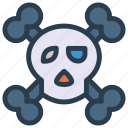 danger, halloween, horror, skull icon