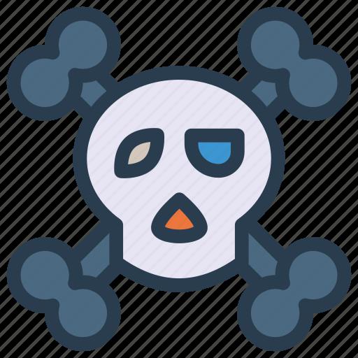 danger, halloween, horror, skull icon