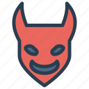 creepy, devil, scary, spooky icon