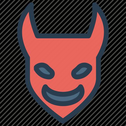 creepy, devil, scary, spooky icon